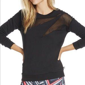 Fabletics black mesh cutout Agon sweatshirt
